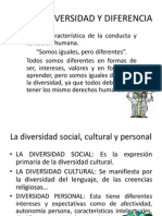 La Diversidad y Diferencia