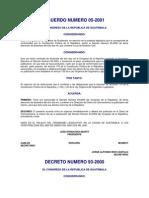 Acuerdo 05-2001 Ley de Aviacion Civil y Su Reglamento