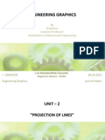 Projection of Lines