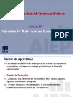 2 Tercera Clase Fundamentos de La Administración Moderna