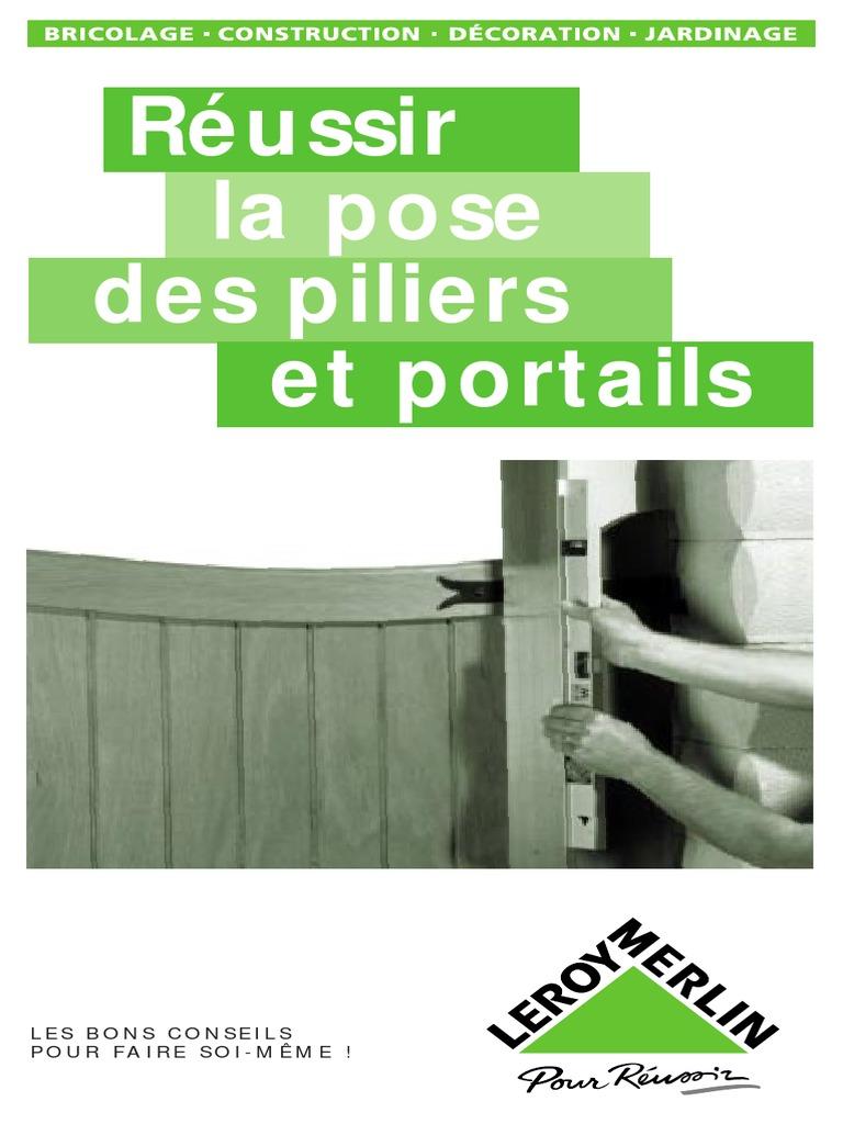 La Pose Des Piliers Et Portailpdf