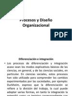 4.- Procesos y Diseño Organizacional