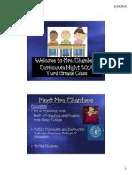 curriculum night 2014 chambers