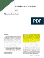 Paula Leite - Trabajo Asociativo y Economia Solidaria