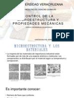 Control de La Microestructura y Propiedades Mecánicas De