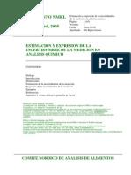 Procedimiento Incertidumbre Nmkl 2003