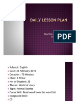 30105020 Daily Lesson Plan