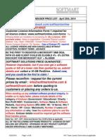 Softmart EndUser Pricelist