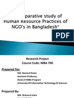 A Comparative Study of Human Resource Practices of NGO's in Bangladesh