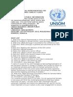 UN SPECIAL REPRESENTATIVE FOR CHILDREN IN ARMED CONFLICT VISITS SOMALIA