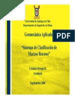 Ayudantia 3 - Clasificación de Macizo Rocoso