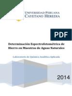 Informe Química Analítica - Determinación de Hierro