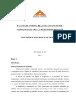 ATPS Concluída Saúde e Segurança No Trabalho