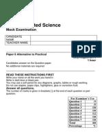 10 IGCSE Science Mock Exam Paper 6 2014