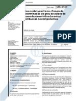 NBR 11633 Mb 3338 - Fios E Cabos Eletricos - Ensaio de Determinacao Do Grau de Acidez de Gases De