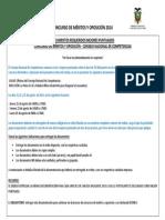Disposiciones Generales Para Entrega de Documentos Cnc