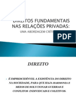 Direitos Fundamentais Nas Relações Privadas