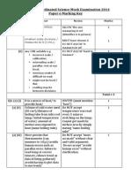 10 IGCSE Coordinated Science Mock Examination 2014_Paper 6 Mark Scheme
