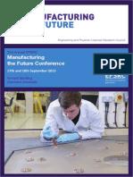 Manufacturing the Future 2013
