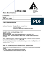 10 IGCSE Science Mock Paper 1 2014