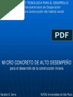 14Microconcreto de Alto Desempeno Para El Desarrollo de Prefabricacion Liviana Geraldo Serra