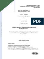 CAILLY, Laurent. Pratiques Spatiales e Processus de Inivudualisation