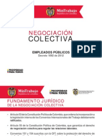 Negociacion Colectiva en El Sector Publico