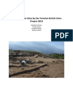 Excavations at Utica by the Tunisian-British Utica Project 2013 (E. Fentress, F. Ghozzi, J. Quinn, and A. Wilson)