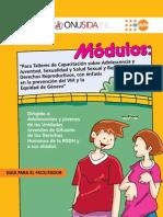 """Manual PDDH UNFPA SSR""""Para Talleres de Capacitación Sobre Adolescencia y"""
