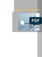 Planning & Evaluation