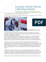 My Plea to the People of Israel Liberate Yourselves by Liberating Palestine