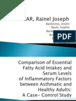 Comparison of Essential Fatty Acid Intakes...a Case-control Study