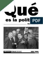 Callinicos, A. - Qué Es La Política [1984]
