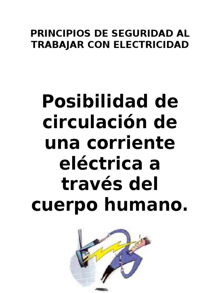 Manual de Principios de Seg. Al Trabajar Con Electricidad