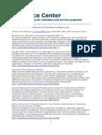 National Service (Domestic) Policies Procedures