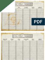 D20 - D&D 3rd - Forgotten Realms - Calendar