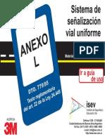 Señalamiento Vial Uniforme - Anexo L