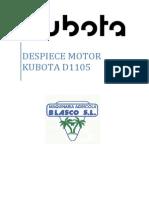Despiece Kubota D1105 Agricola Blasco (1)