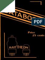 Raytheon 1937 Radio Receiving Tubes