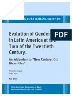 Evolution of Gender Gaps in Latin America at the Turn of the Twentieth Century- An Addendum to -New Century, Old Disparities