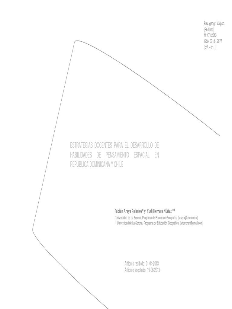 Estrategias Para El Desarrollo de Habilidades Geograficas