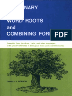 dictionary of word roots  combining forms