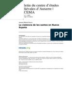 La Violencia de Los Santos en Nueva Espana