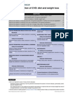 Primary Prevention of CVD- Diet and Weight Loss