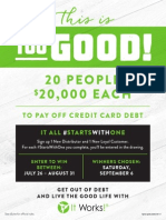 """Flyer for the """"Too Good"""" Promo"""