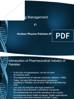 Pharma Industry Pakistan and Herbion Pharma Company Swot Analysis