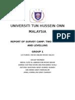 Report Levelling uthm