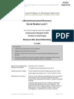 internal assessment resource online social networking