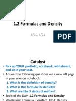 1 2 formulas and density