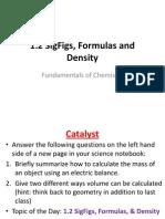 1 2 sigfigs formulas and density